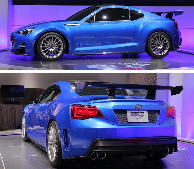 在洛杉磯車展所展示的概念。 Subaru