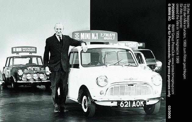 艾利克伊席格尼斯在1959年創造MINI,並在1969年獲頒勳爵。 MINI提供