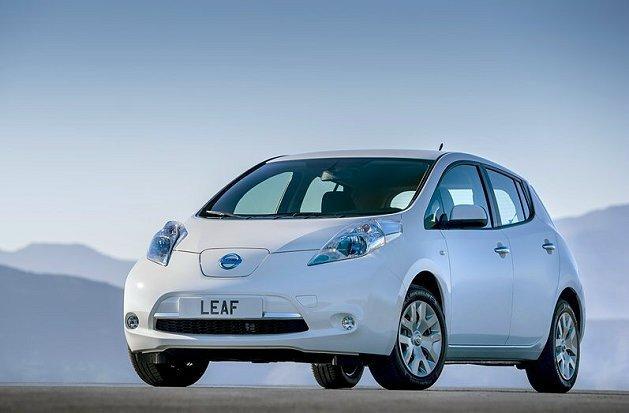 第一代Nissan Leaf電動車。 Nissan提供