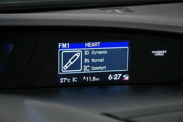有三段可調的後輪避震系統。 Honda提供