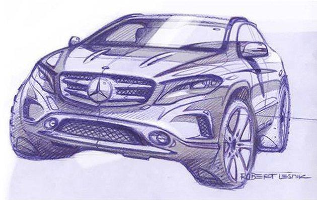 GLA-Class量產現身。 M-Benz