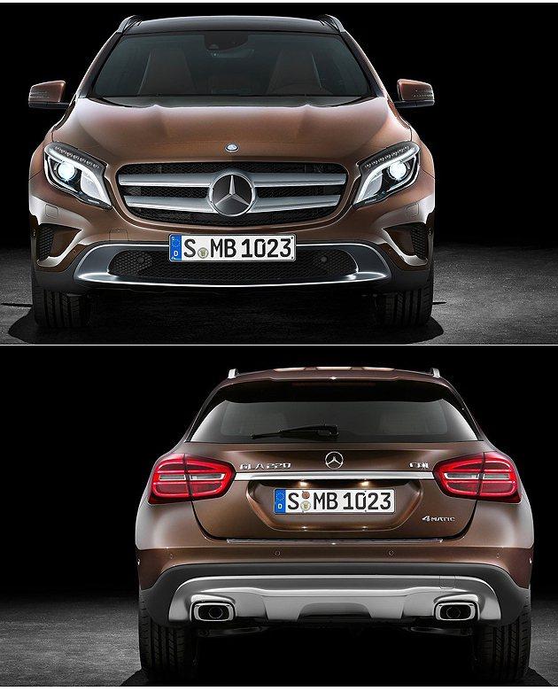 車頭車尾都是A-Class的膨脹版。 M-Benz
