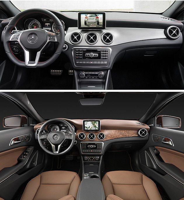 內裝以A-Class為基調。 M-Benz