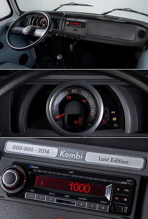 簡單的麵包車內裝,單環式儀表與USB/MP3音響。 VW