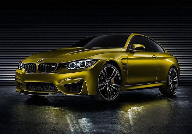 Aurum Dust車色為M4概念車的主打色。 BMW