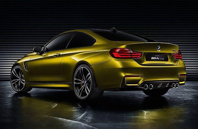 車尾的下擾流系統為碳纖維製造。 BMW