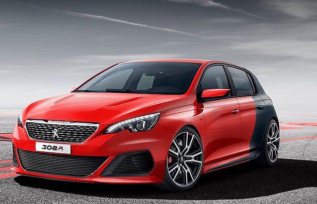 車頭明顯的差異,308 R以概念現身。 Peugeot
