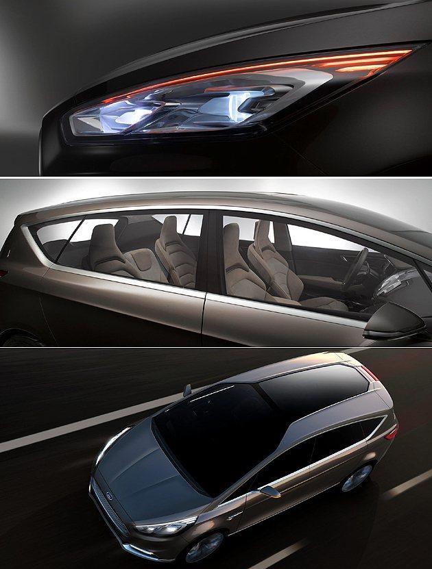 俐落的外觀與玻璃車頂。 Ford