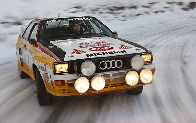 1987年車手Walter Röhrl駕馭quattro賽車 Audi