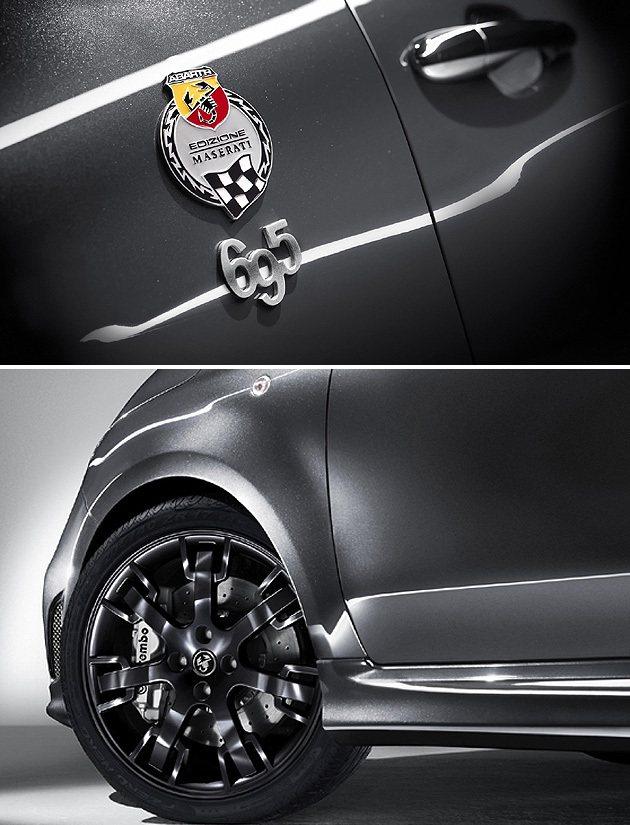 限定49輛的695 Maserati Edition,輪圈與Maserati相同...