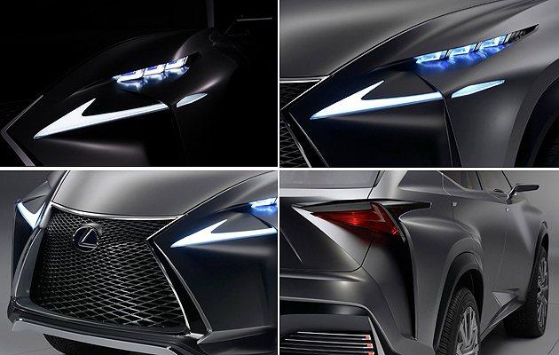 外觀誇張的造型,像極了狂派機器人。 Lexus