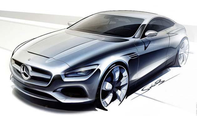 S-Class Coupe的新模樣,由原廠發布的設計稿。 M-Benz