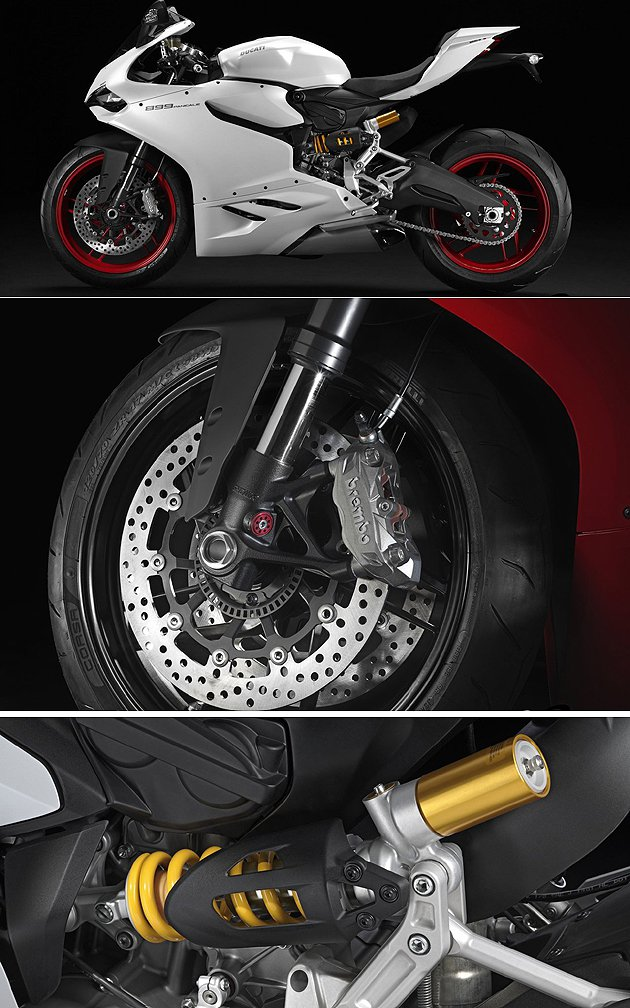 Bosch 9MP ABS系統與Showa前叉。 Ducati