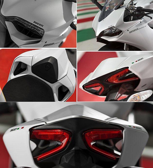外觀與1199差異不大。 Ducati