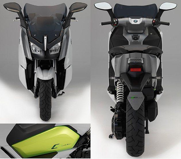 車頭更具有科技感,中間的電池機構也提顯出來。 BMW