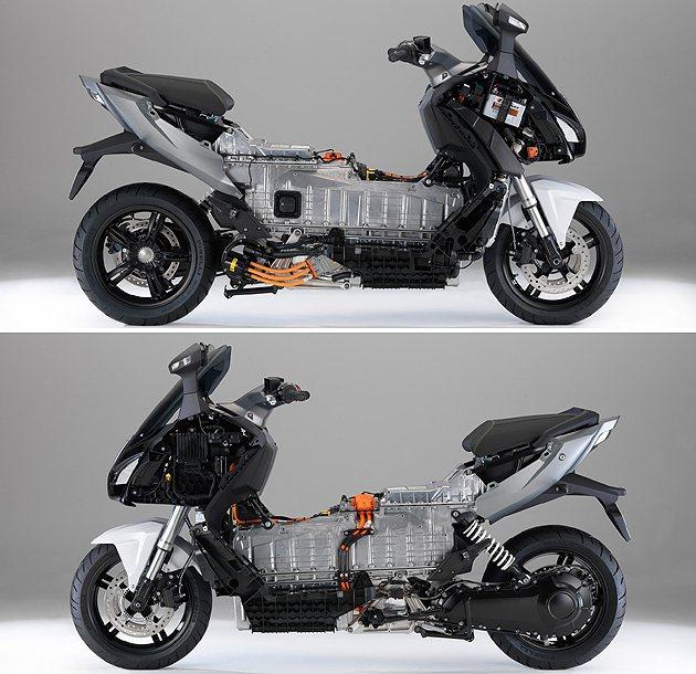 前後配置與內燃機車型相仿,主要在於中間電池的結構改變全車底盤的設計。 BMW