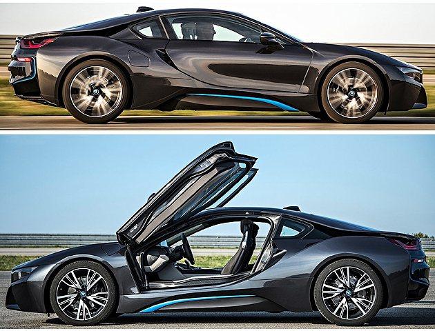車側設計也因量產版而有點修改。 BMW