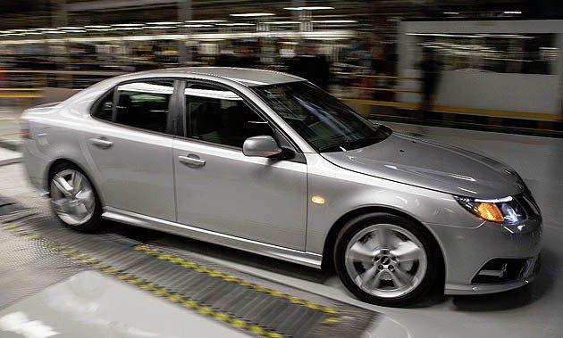 9-3 sedan將進行車載零件的測試。 Saabsunited