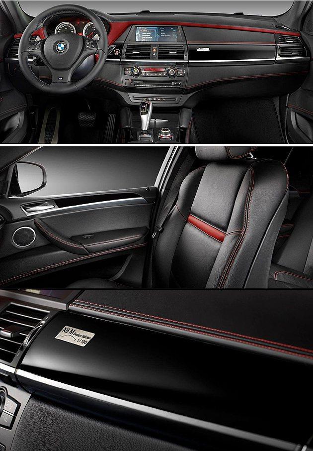 內裝Mugello紅色皮革相當醒目。 BMW