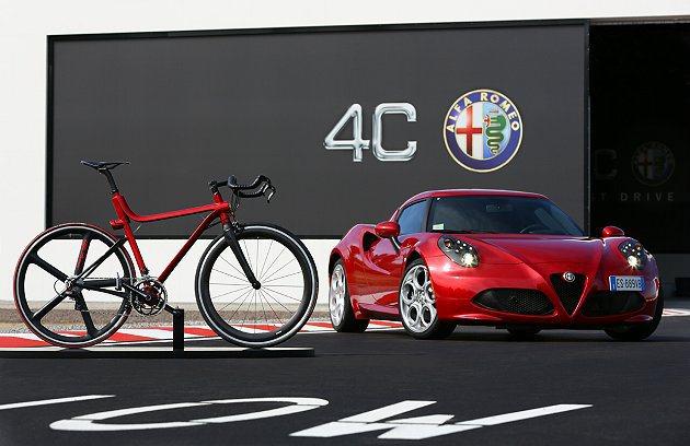 Alfa Romeo推出4C IFD自行車。 Alfa Romeo提供