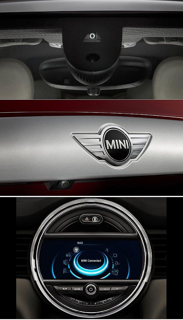 車頭與車尾的鏡頭讓MINI的駕駛輔助科技更完整。 MINI