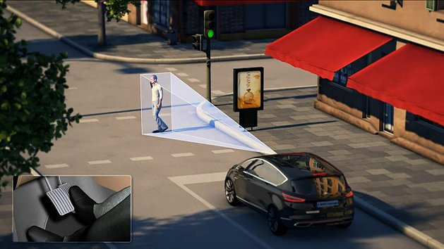 Obstacle Avoidance可偵測到前方200公尺緩慢移動的物體(如行人...