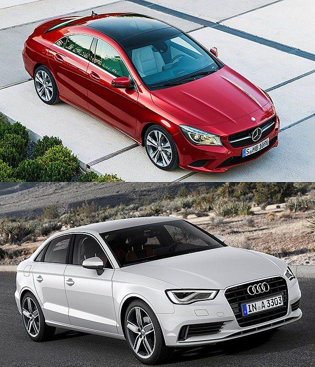 CLA已經在台灣上市,而下方A3 sedan則是尚未導入。 Audi/M-Ben...