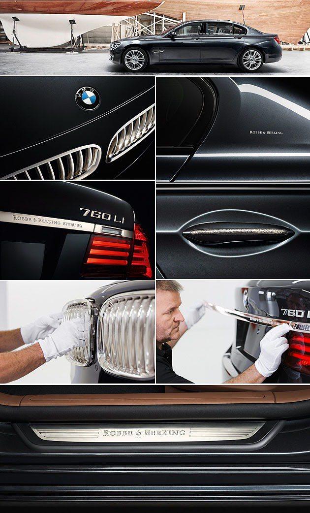 外觀的金屬都以925銀取代。 BMW