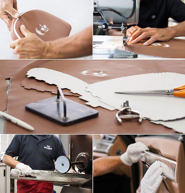 手工縫製皮革搭上手造銀器,每件都是精品。 BMW
