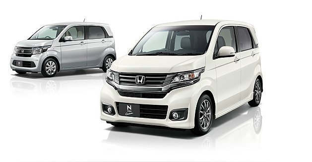 Honda將在東京車展中正式發表全新輕型掀都會小車N-WGN;圖中左為標準車型,...