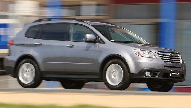 Crossover 7概念休旅車身比Tribeca短了80mm。 Subaru提...