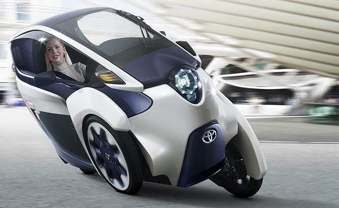三輪概念電動車i-Road。 Toyota提供