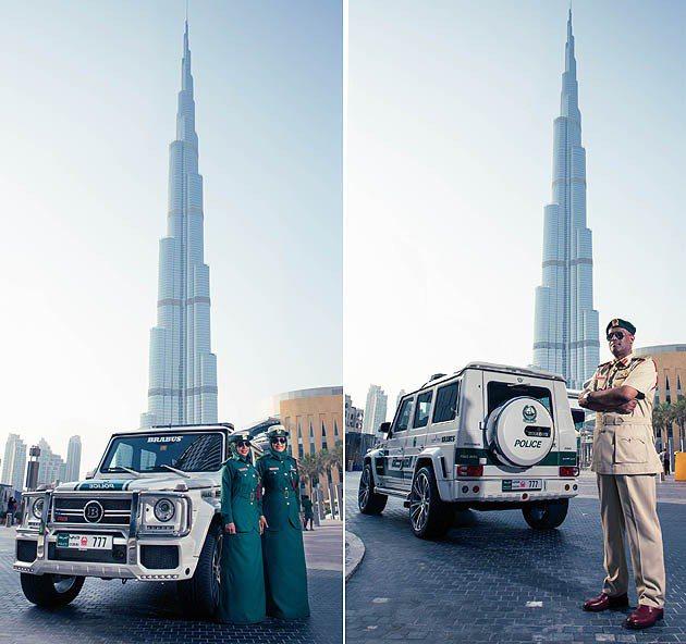 杜拜最美麗的高塔Burj Kalifa。 Brabus
