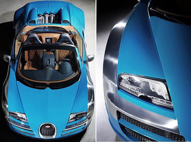 從車頭可見到特殊的光芒。 Bugatti