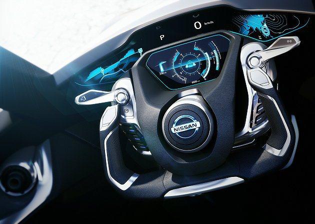 BladeGlider有如同戰機的方向盤與數位儀表。 Nissan提供