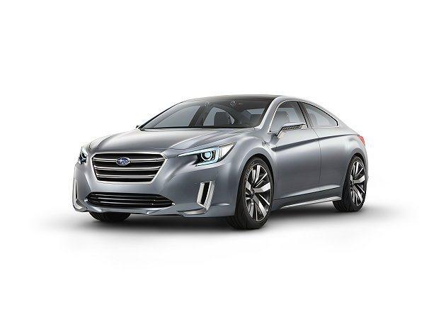 Legacy Concept有著誇大的車輪和厚實的葉子板。 Subaru提供