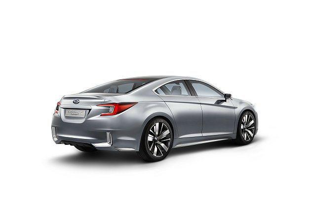 Legacy Concept概念車傳達下一世代Legacy中型房車新的設計方向。...