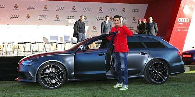 C羅與他的亮灰色RS6 Avant。 Audi提供
