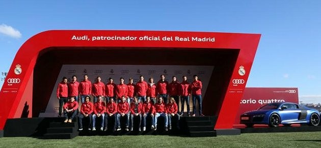 皇家馬德里的球員與教練都獲贈一輛Audi新車。 Audi提供