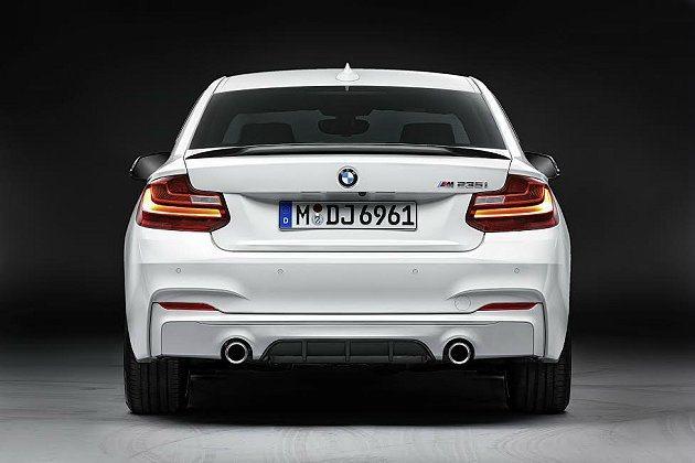 後保桿加了分流器以增進高速行車穩定性。 BMW提供