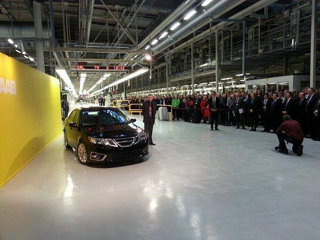 Saab 9-3 Aero在瑞典Trollhattan工廠重新進行投產工作。 S...