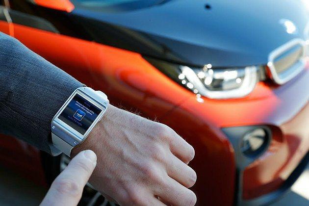 BMW i3與韓國三星合作,結合三星Samsung Galaxy Gear穿戴式...