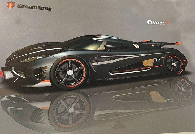 Koenigsegg One:1馬力重量比為1:1,最大馬力1400hp。 Ko...