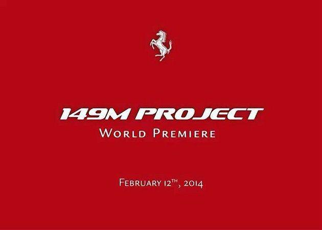 「149M Project」新車全球首發預料可能是新改款的California。...
