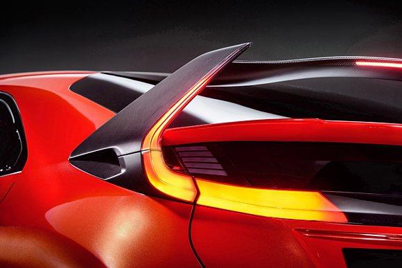 Civic Type R大型後擾流尾翼。 Honda提供