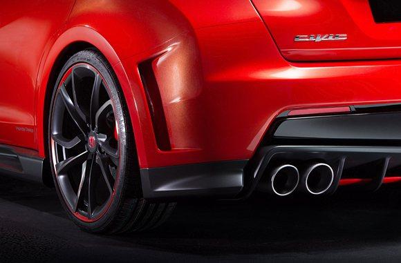 Civic Type R Concept造型和性能操駕有著密切關聯,並且有許多造...