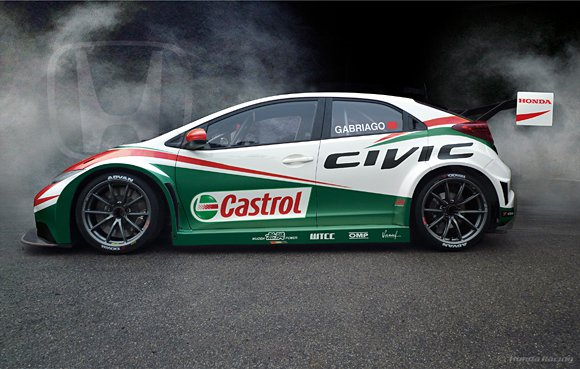 同台展演的還有Civic的2014年WTCC戰馬,將為未來量產的Civic Ty...