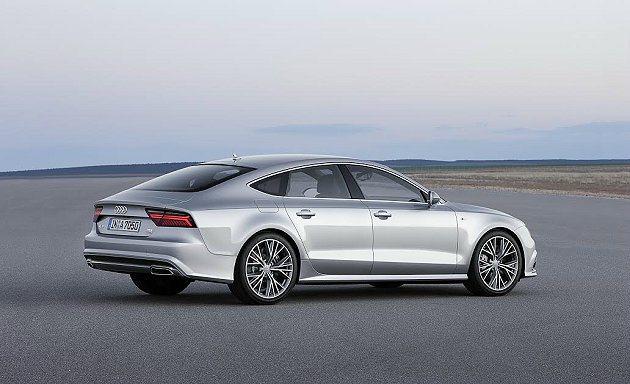 A7 Sportback斜傾的C柱和向車尾下壓的車型營造跑格。 Audi提供