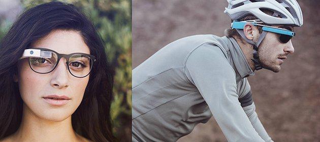 Google推出的Google Glass,相當具科技智慧的設計。 Google...