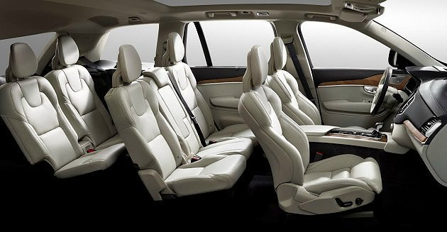 七人座配置,二三排座椅可摺疊移動。 Volvo提供